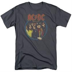Image of ACDC Shirt Highway To Hell Charcoal T-Shirt