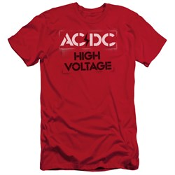 Image of ACDC Slim Fit Shirt High Voltage Red T-Shirt