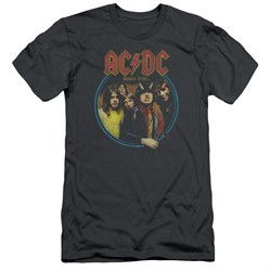 Image of ACDC Slim Fit Shirt Highway To Hell Charcoal T-Shirt