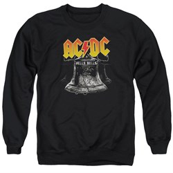 Image of ACDC Sweatshirt Hells Bells Adult Black Sweat Shirt