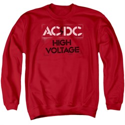 Image of ACDC Sweatshirt High Voltage Adult Red Sweat Shirt