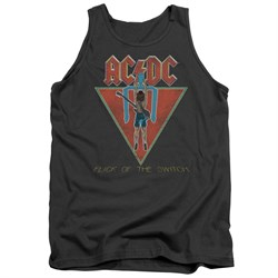 Image of ACDC Tank Top Flick Of The Switch Charcoal Tanktop