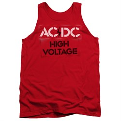 Image of ACDC Tank Top High Voltage Red Tanktop