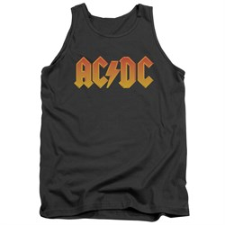Image of ACDC Tank Top Logo Charcoal Tanktop