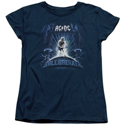 Image of ACDC Womens Shirt Ball Breaker Navy T-Shirt