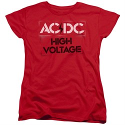 Image of ACDC Womens Shirt High Voltage Red T-Shirt
