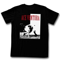 Image of Ace Ventura Shirt Ace Adult Black Tee T-Shirt