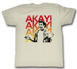 Image of Ace Ventura Shirt Akayakay Adult Cream Tee T-Shirt