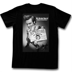 Image of Ace Ventura Shirt BNW Poster Adult Black Tee T-Shirt
