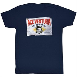 Image of Ace Ventura Shirt Business Adult Navy Tee T-Shirt