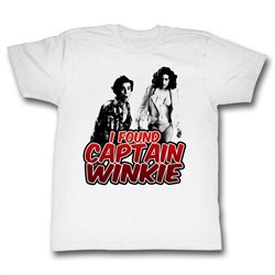 Image of Ace Ventura Shirt Captain Winkie Adult White Tee T-Shirt