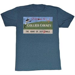 Image of Ace Ventura Shirt Collie County Adult Blue Heather Tee T-Shirt