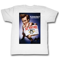 Image of Ace Ventura Shirt Color Poster Adult White Tee T-Shirt