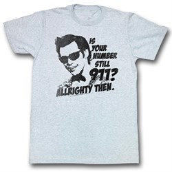Image of Ace Ventura Shirt Nine One One Adult Grey Heather Tee T-Shirt