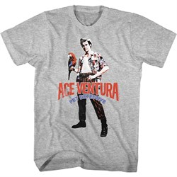 Image of Ace Ventura Shirt Red Black Blue Ace Tee T-Shirt