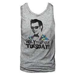 Image of Ace Ventura Shirt Tank Top Testicle Tuesday Sports Grey Tanktop