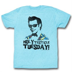 Image of Ace Ventura Shirt Tuesday Adult Light Blue Tee T-Shirt