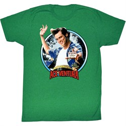 Image of Ace Ventura Shirt Wisconsin Adult Kelly Green Tee T-Shirt