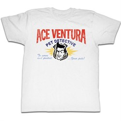 Image of Ace Ventura Shirt Your Pets Adult White Tee T-Shirt