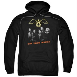 Image of Aerosmith Hoodie Get Your Wings Black Sweatshirt Hoody