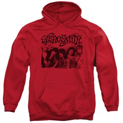 Image of Aerosmith Hoodie Old Photo Red Sweatshirt Hoody