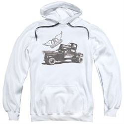 Image of Aerosmith Hoodie Pump White Sweatshirt Hoody