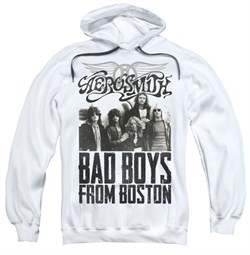 Aerosmith Hoodie Sweatshirt Bad Boys White Adult Hoody Sweat Shirt