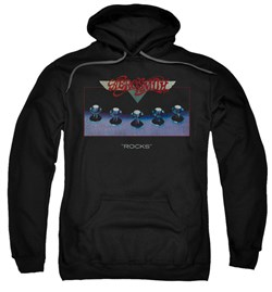 Aerosmith Hoodie Sweatshirt Rocks Black Adult Hoody Sweat Shirt