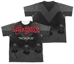 Image of Aerosmith Rocks Sublimation Kids Shirt Front/Back Print