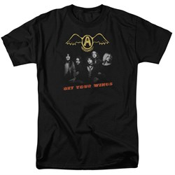 Image of Aerosmith Shirt Get Your Wings Black T-Shirt
