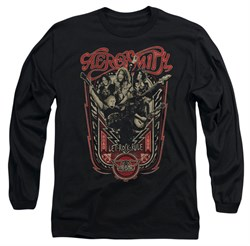 Image of Aerosmith Shirt Let Rock Rule Long Sleeve Black Tee T-Shirt