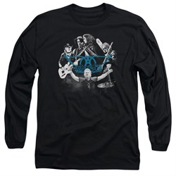 Image of Aerosmith Shirt Rock N Around Long Sleeve Black Tee T-Shirt