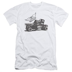 Image of Aerosmith Shirt Slim Fit Pump White T-Shirt