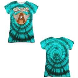 Image of Aerosmith Shirt Tie-Dye Sublimation Juniors Shirt