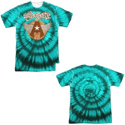 Image of Aerosmith Shirt Tie-Dye Sublimation Shirt Front/Back Print