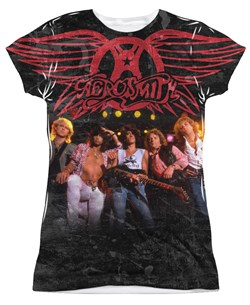 Image of Aerosmith Stage Sublimation Juniors Shirt