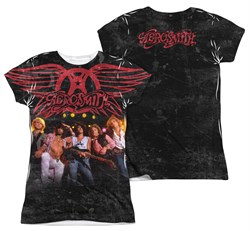 Image of Aerosmith Stage Sublimation Juniors Shirt Front/Back Print
