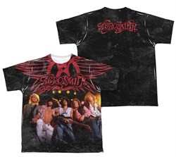 Image of Aerosmith Stage Sublimation Kids Shirt Front/Back Print
