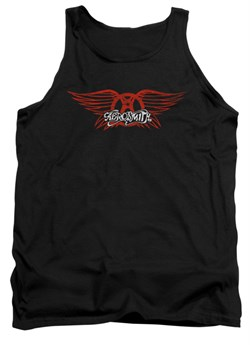 Image of Aerosmith Tank Top Winged Logo Black Tanktop