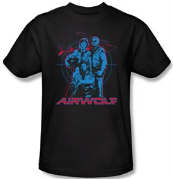 Image of Airwolf T-shirt Graphic Adult Black Tee Shirt