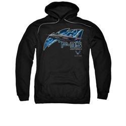 Image of Air Force Hoodie F35 Lightning II Black Sweatshirt Hoody