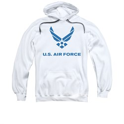 Image of Air Force Hoodie Logo White Sweatshirt Hoody