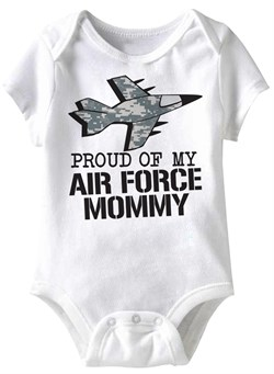 Image of Air Force Mommy Funny Baby Romper White Infant Babies Creeper