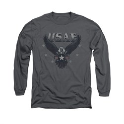 Image of Air Force Shirt Eagle Long Sleeve Charcoal Tee T-Shirt