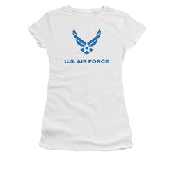 Image of Air Force Shirt Juniors Logo White T-Shirt