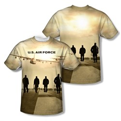 Image of Air Force Shirt Long Walk Sublimation Shirt Front/Back Print