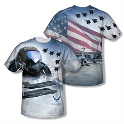 Air Force Shirt Pilot Sublimation Shirt Front/Back Print