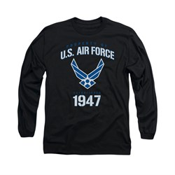 Image of Air Force Shirt Property Of Long Sleeve Black Tee T-Shirt