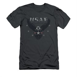 Image of Air Force Shirt Slim Fit Eagle Charcoal T-Shirt