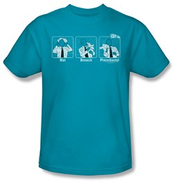 Image of Airplane Shirt Johnny Improv Adult Turquoise Tee T-Shirt